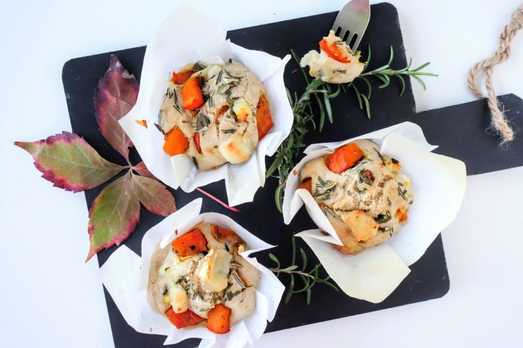 Dýňové muffiny s kozím sýrem