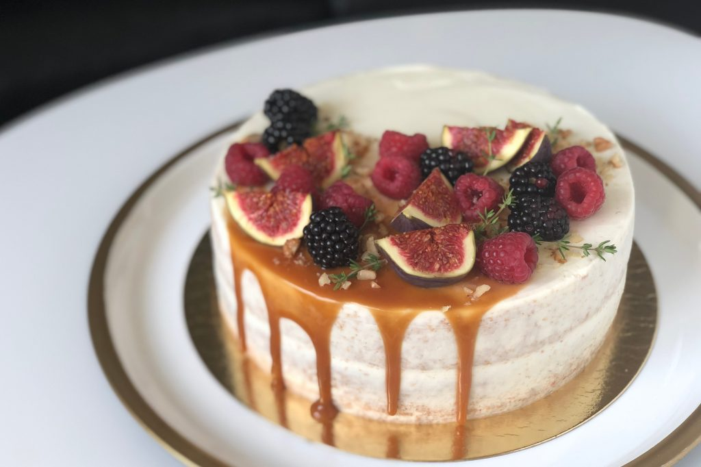 Pohankovo-skořicový dort